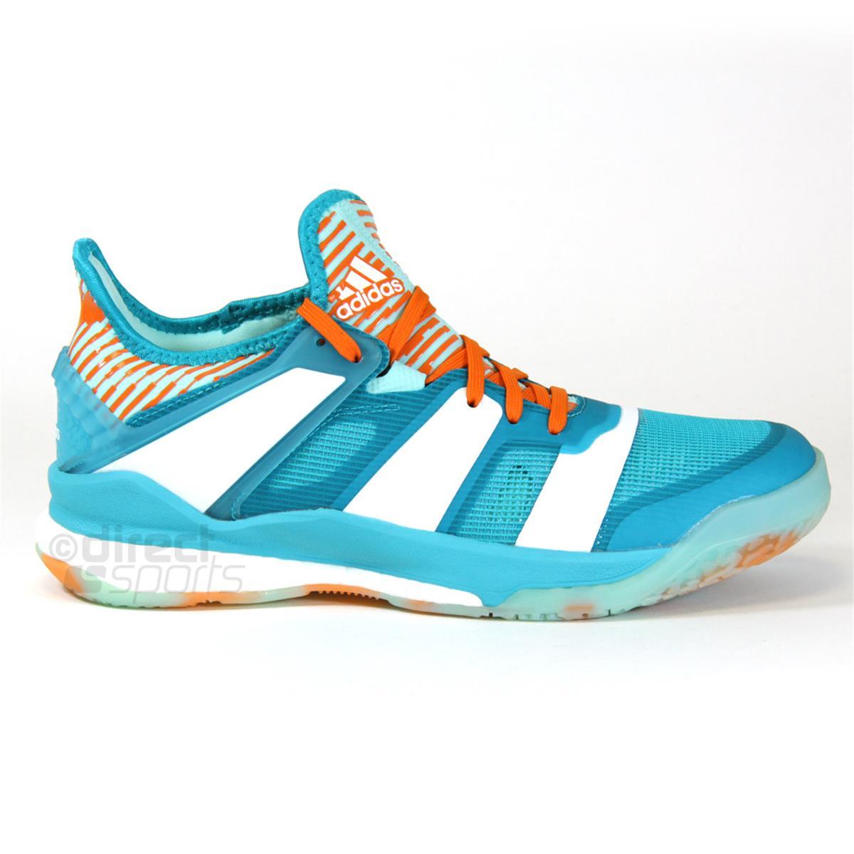 0c2cdd6a204 adidas Stabil X Court Shoes (Aqua-White)