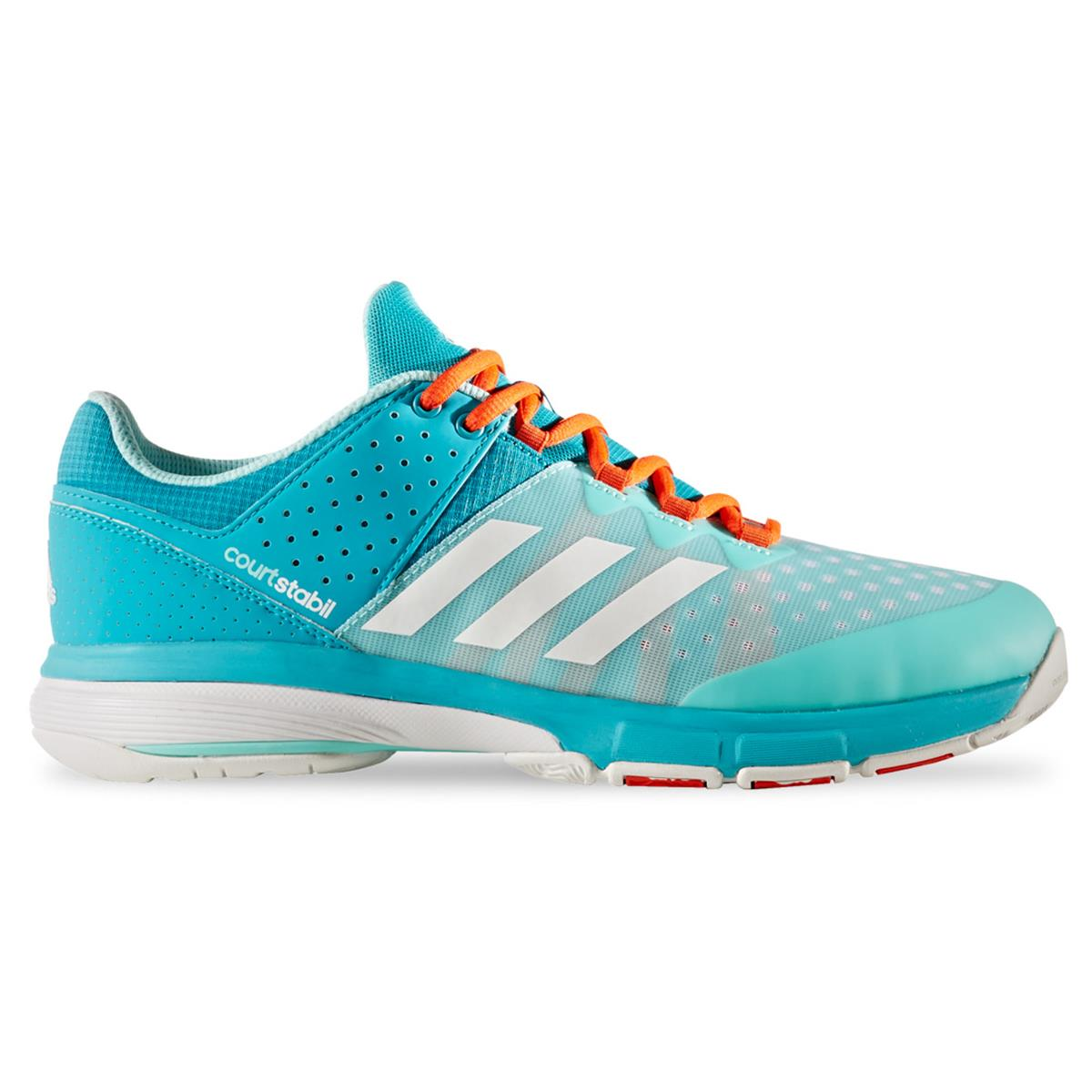 adidas court stabil court shoes energy aqua white by