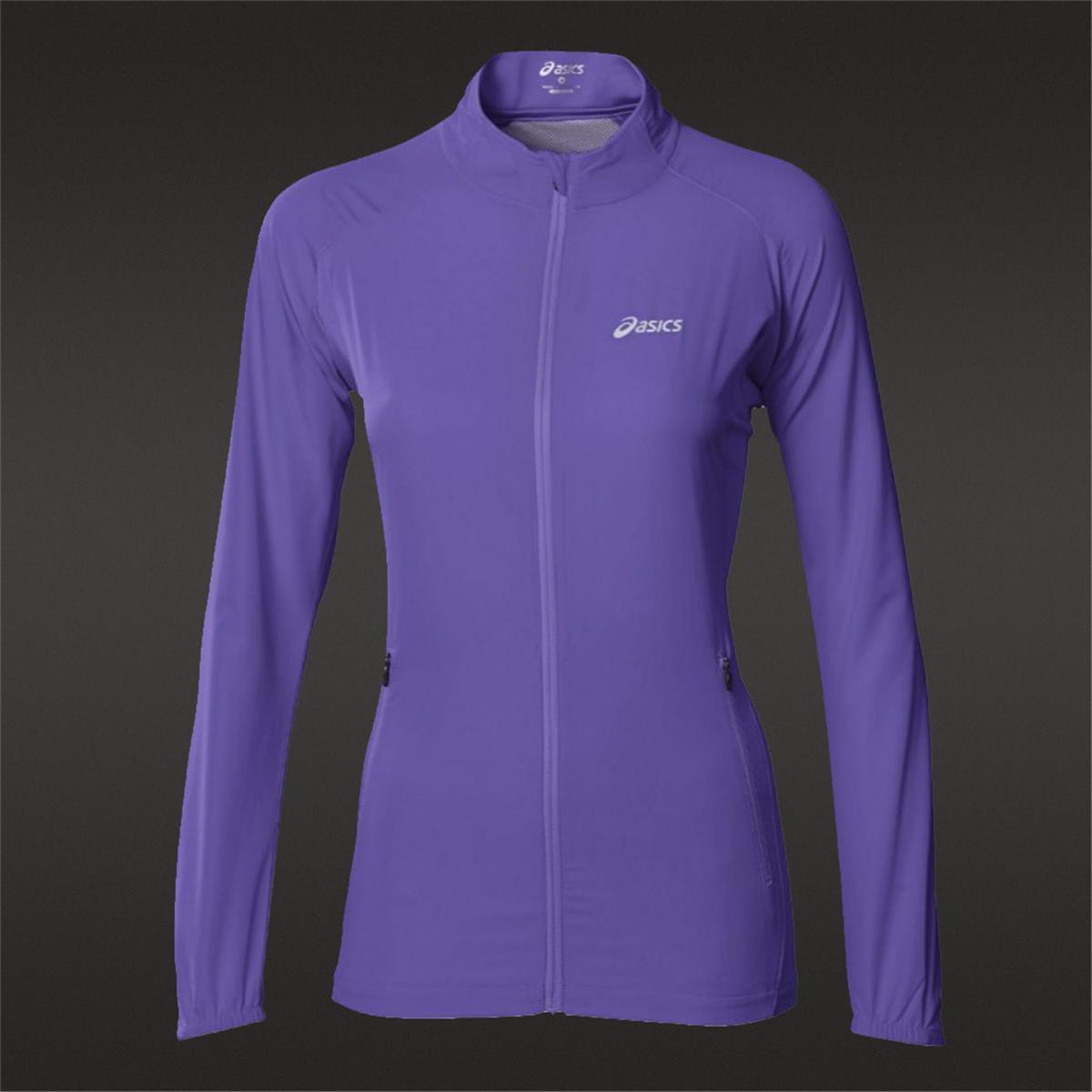 asics running jacket Blue