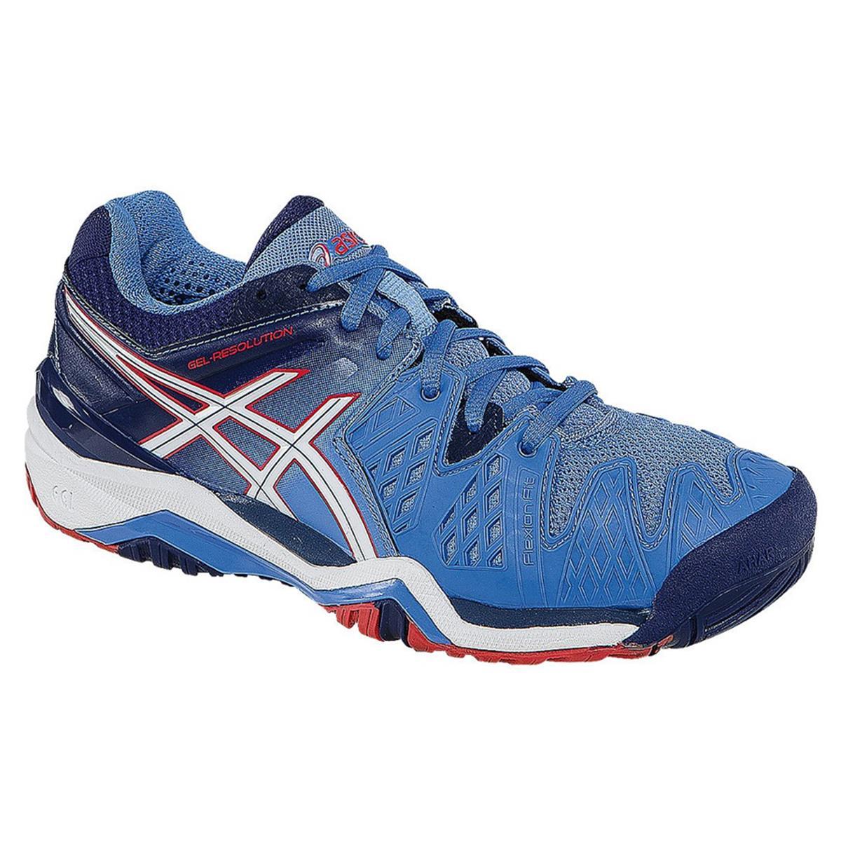 c2bbd06fc884 Asics Gel Resolution 6 Womens Tennis Shoes (Powder Blue ...