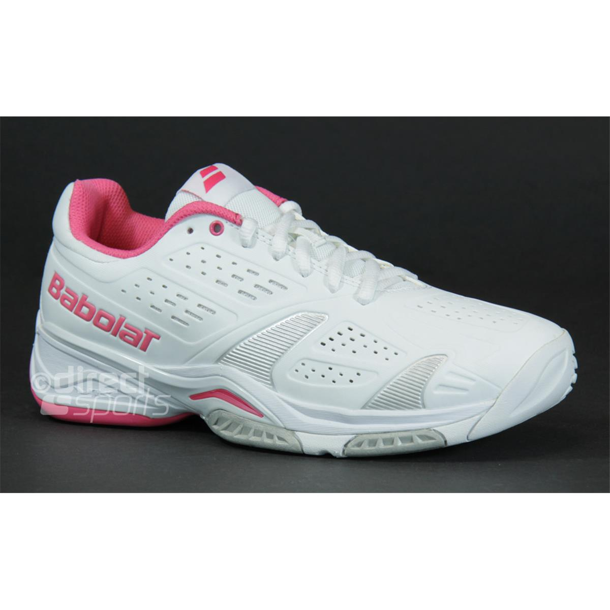 babolat sfx team all court womens tennis shoes white pink