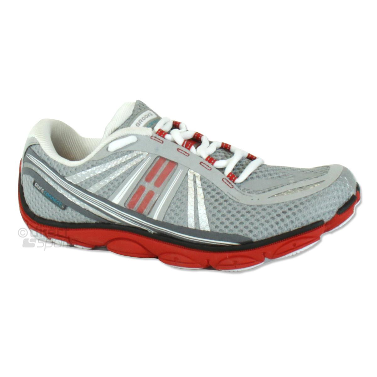 2cc6308d0d799 Brooks PureConnect 3 Mens Running Shoes (River Rock-High Risk Red-Black)