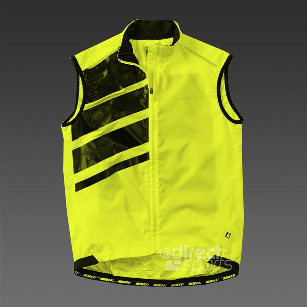 Madison Sportive Mens Race Gilet Hi Viz Yellow