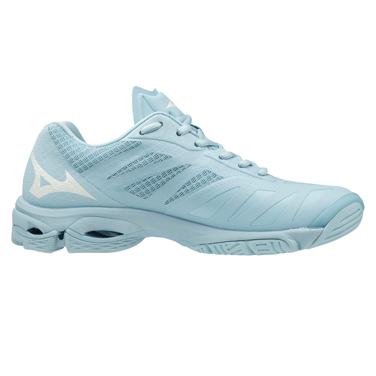 Mizuno Wave Lightning Z5 Womens Court Shoes (Cool Blue-White-Angel Falls)