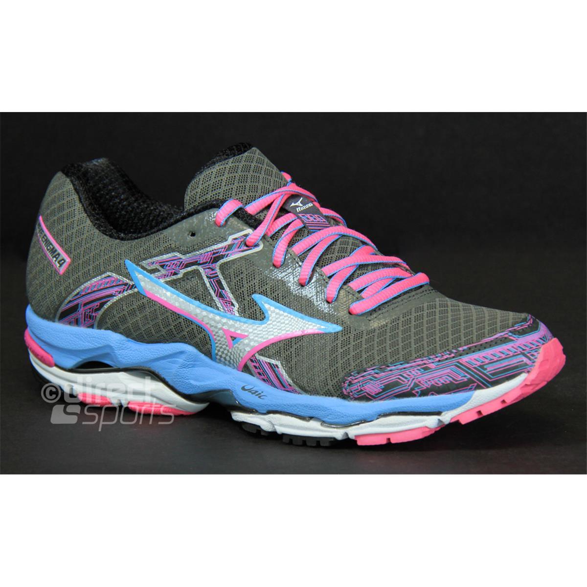 090726e437 Mizuno Wave Enigma 4 Womens Running Shoes (Gunmetal-Silver-Alaskan Blue) (