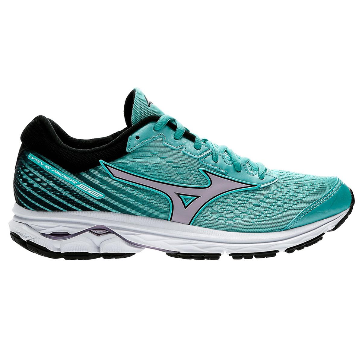 Mizuno Wave Rider 22 Womens Running Shoes (Angel Blue- Lavender Frost- Black)