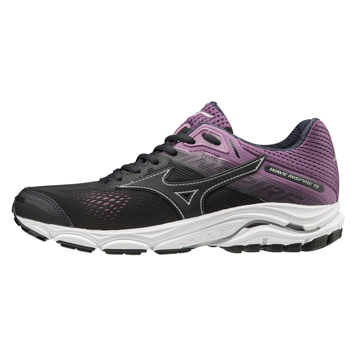 Mizuno Wave Inspire 15 Womens Running Shoes (Blue Graphite-Chinese Violet)