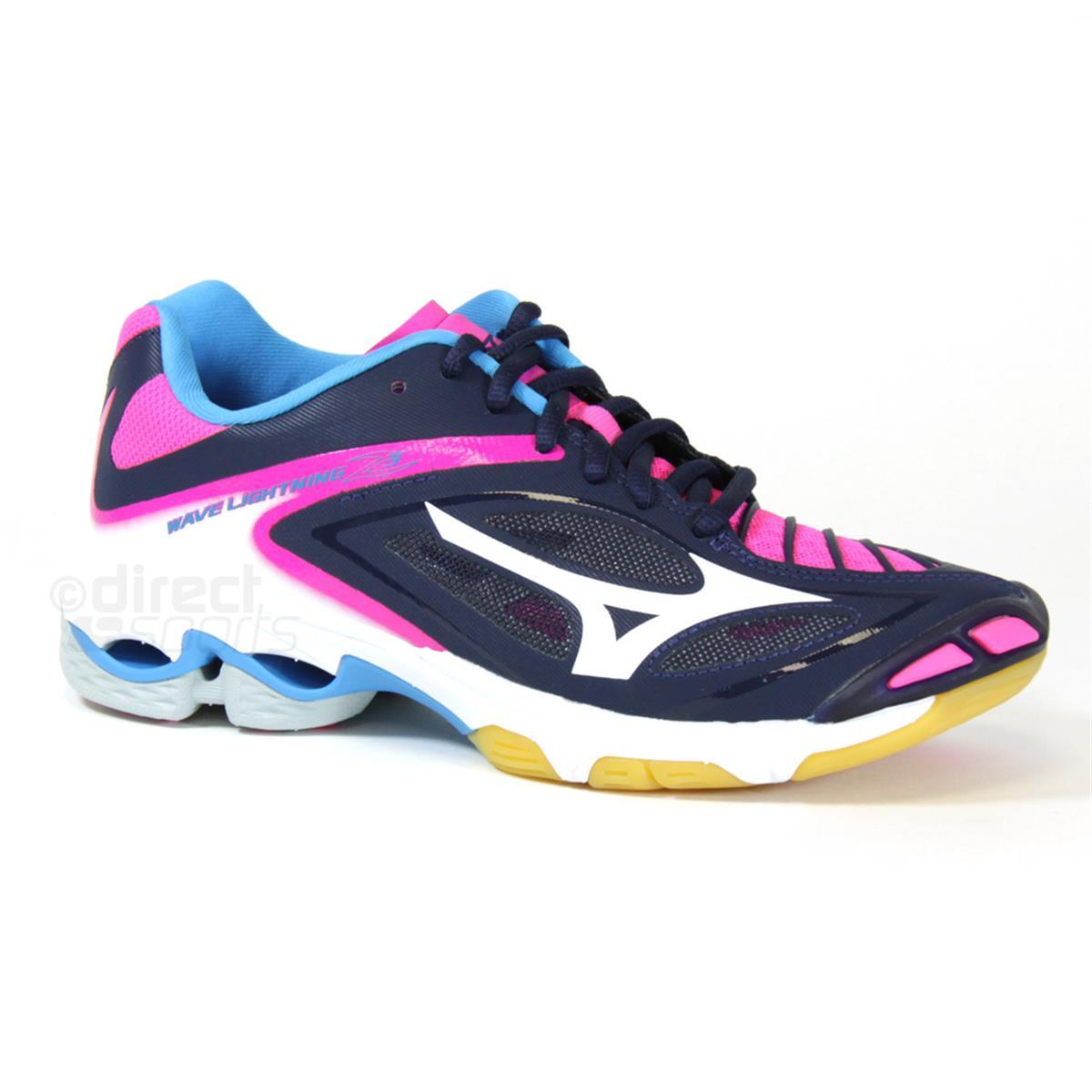 7dfc7f18b536 Mizuno Wave Lightning Z3 Womens Court Shoes (Peatcoat-Pink Glow ...