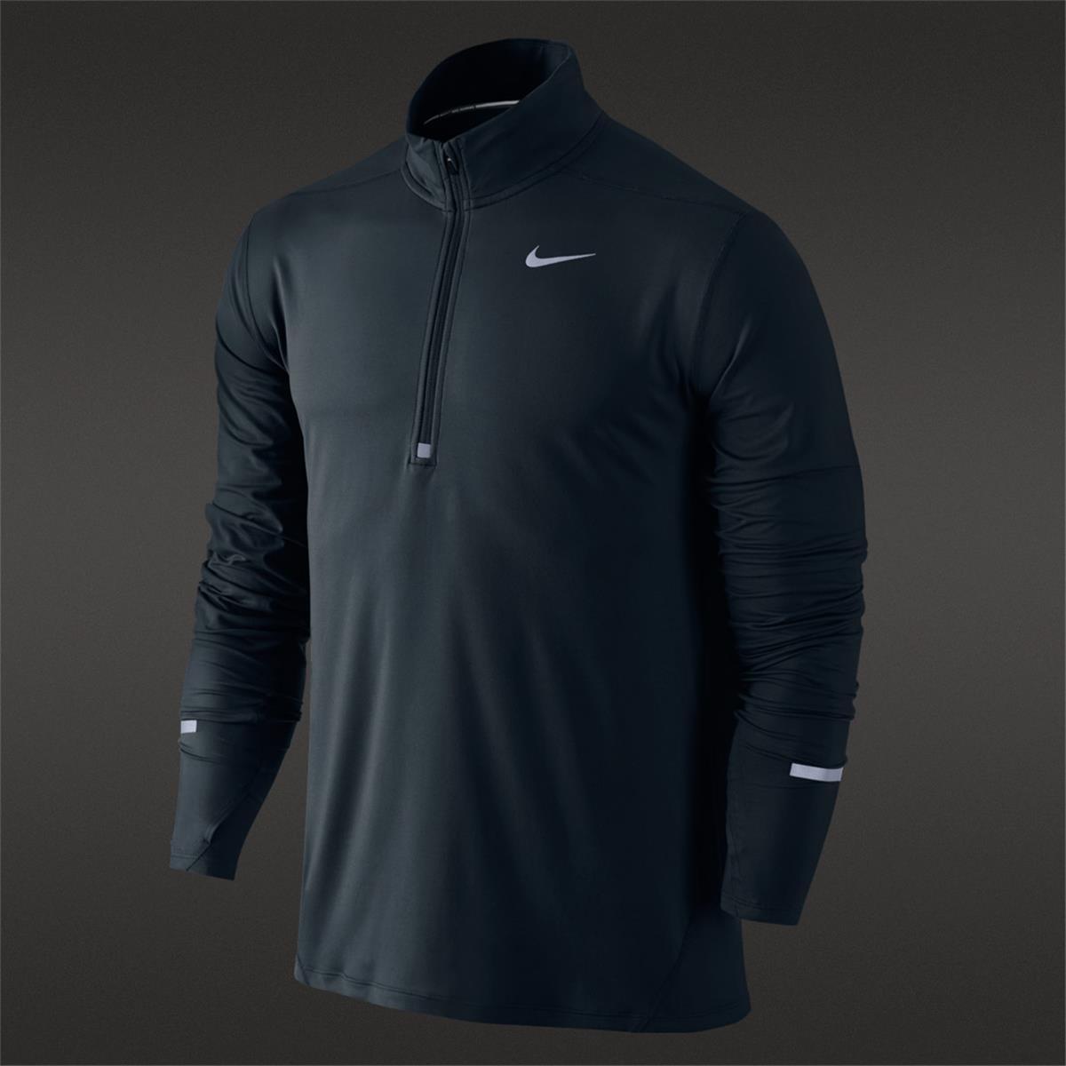 2cc07f79107c Nike Dri-Fit Element Half Zip Mens Top (Black)
