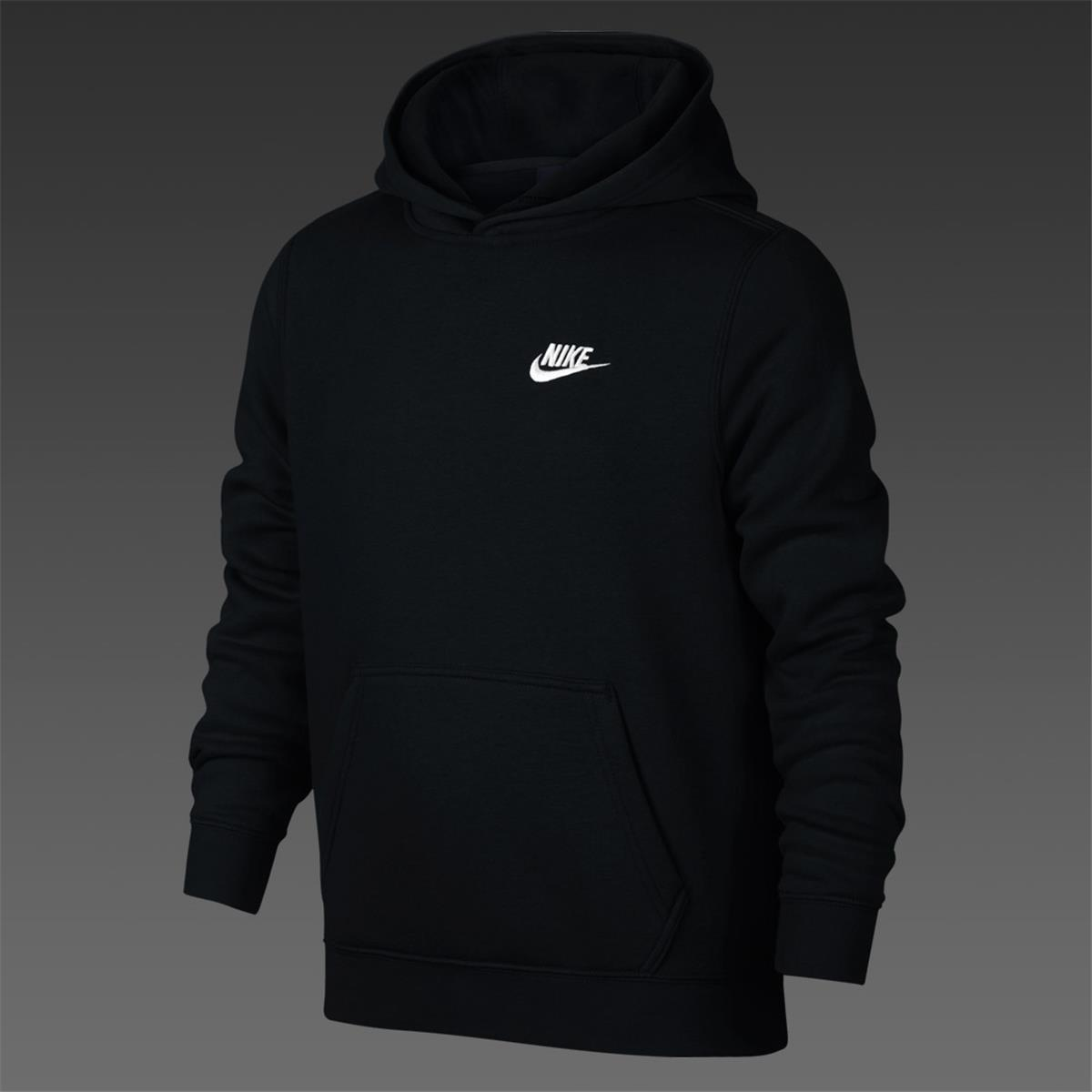 8fe68a35e272 Nike Brushed Fleece Junior Hoodie (Black)