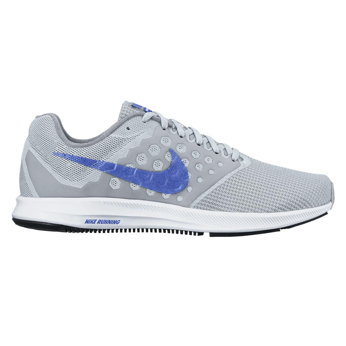 9d06a4066a7d9 Nike Downshifter 7 Womens Running Shoes (Grey-Blue ...