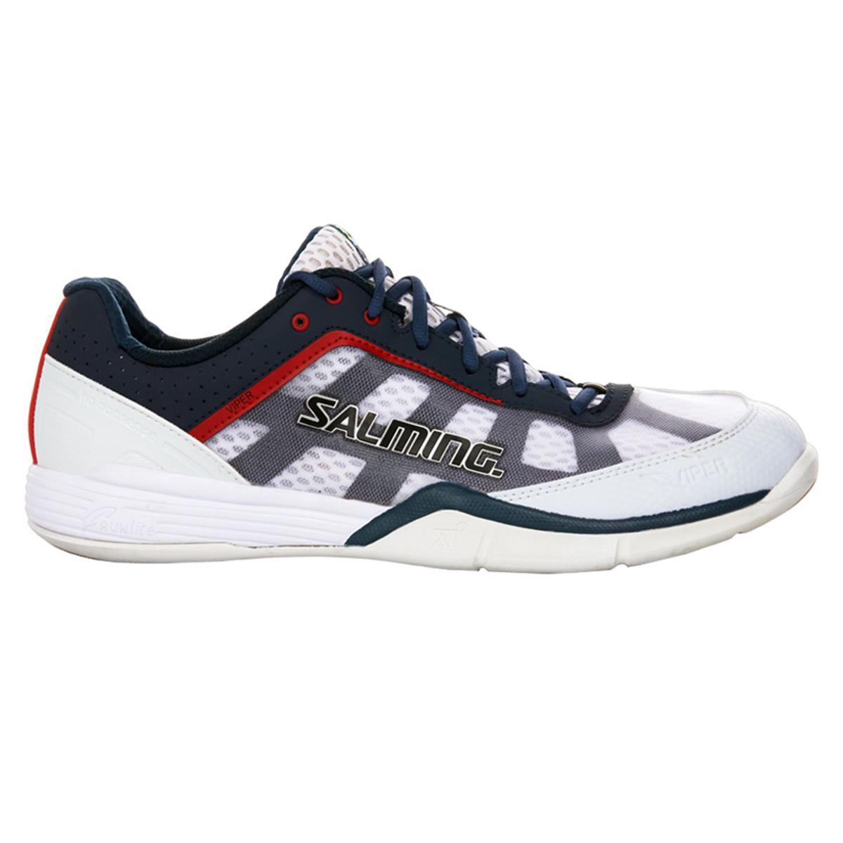 Salming Viper Mens Squash Shoes (White-Navy)  e0216c168eb