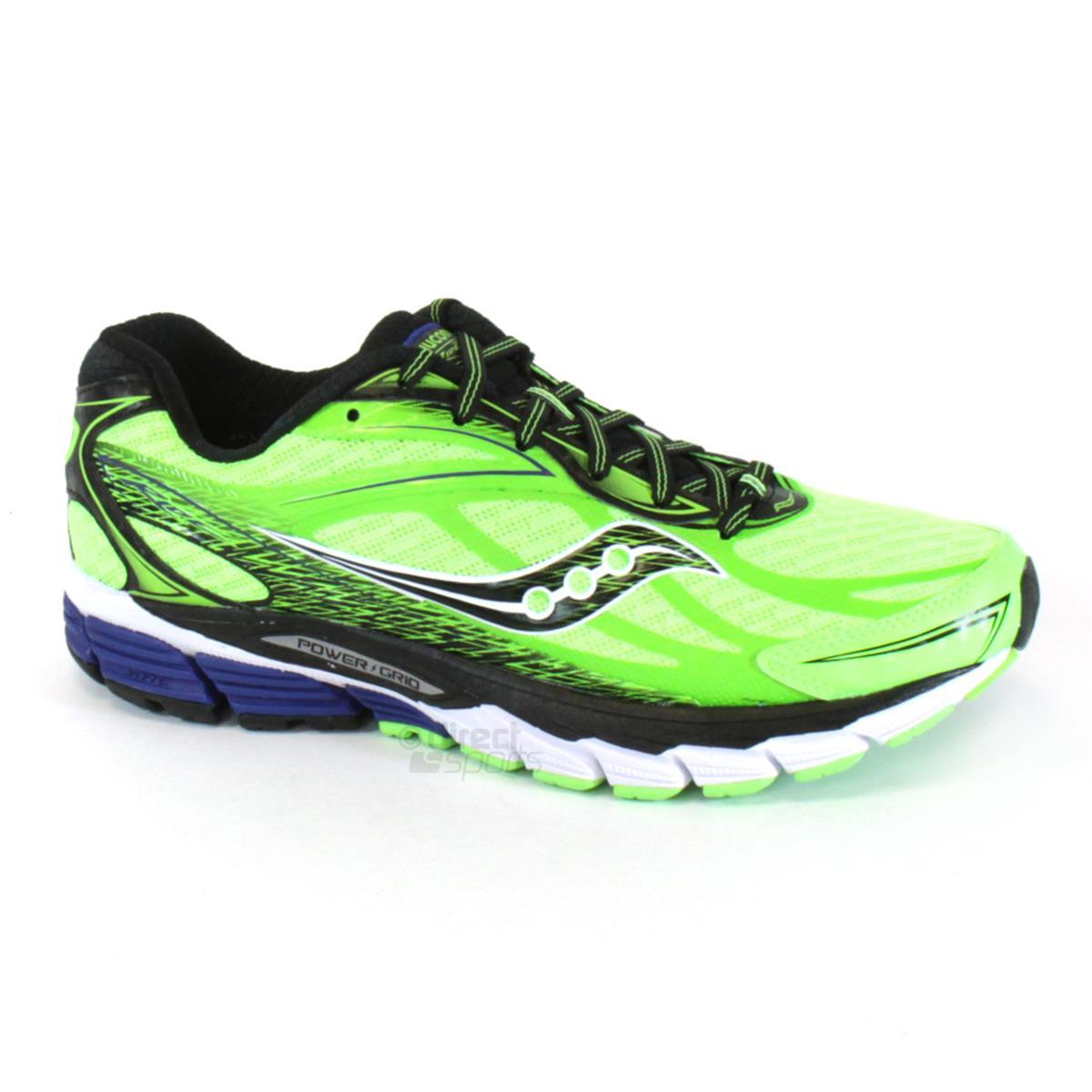 0dabb981918c Saucony Ride 8 Mens Running Shoes (Slime-Black-White ...