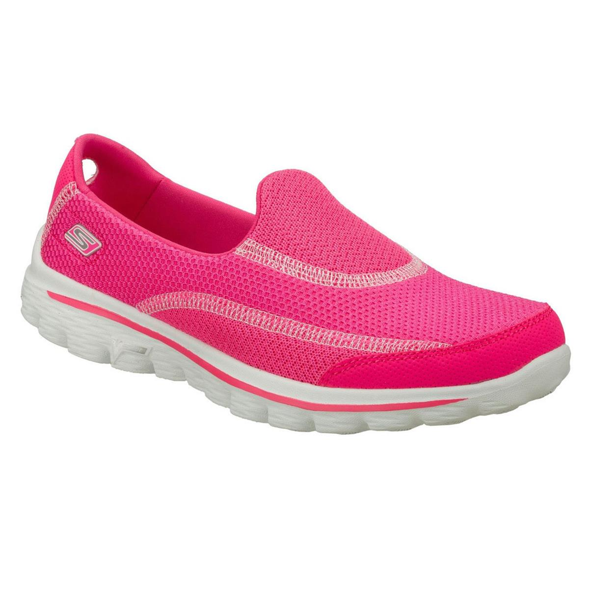 1205c45d6f98f Skechers Go Walk 2 Womens Shoes (Hot Pink) | directsportsEshop.co ...