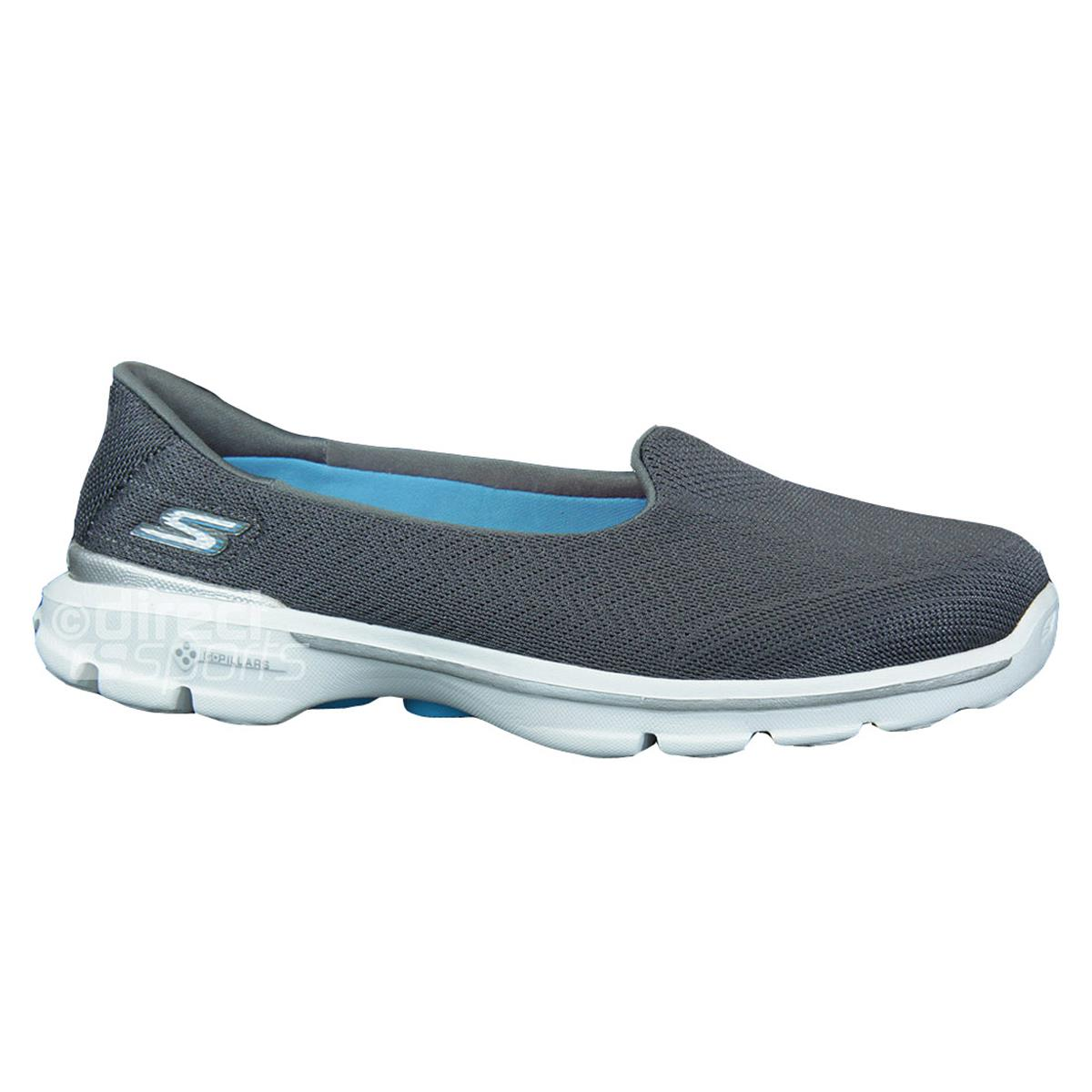 Skechers Go Walk 3 Womens Shoes Charcoal