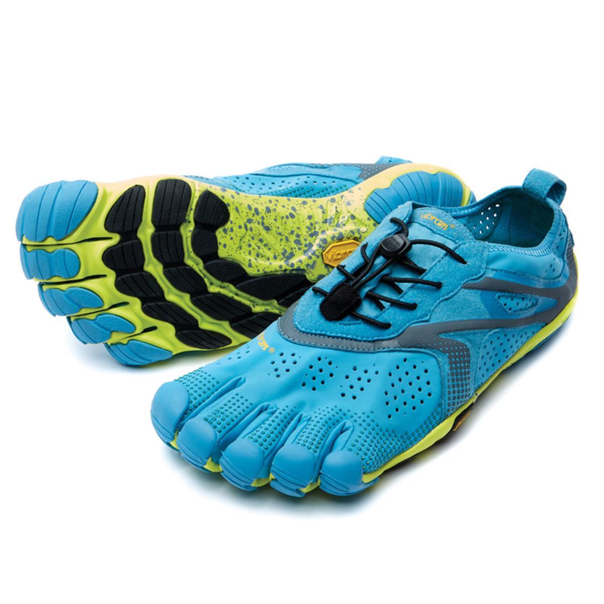 size 40 df2ce 2859e Vibram FiveFingers V-Run Mens Running Shoes (Blue-Yellow)