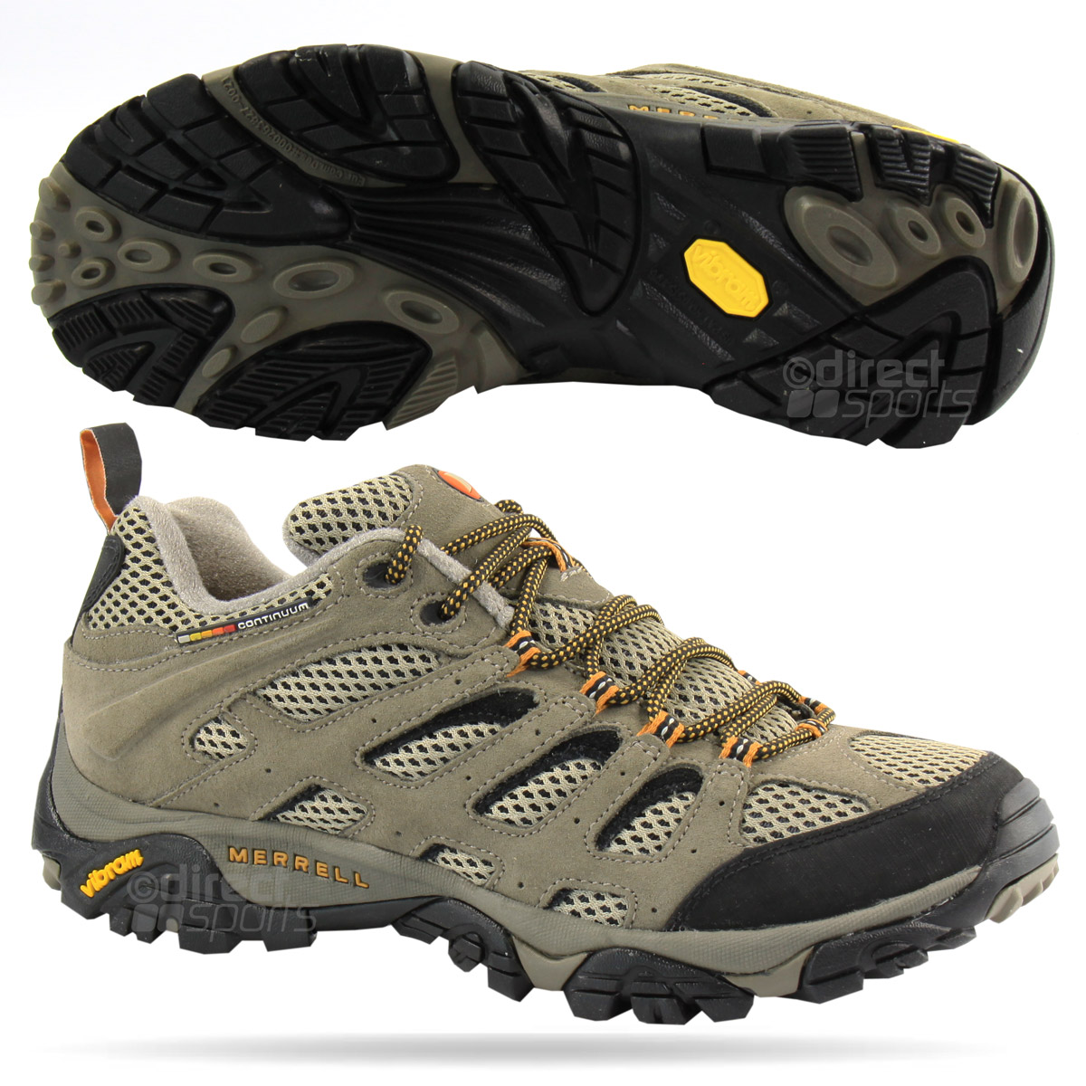 Merrell^ Men's Yokota Trail Mid Hiking Shoes, Waterproof, Brindel / Firefly