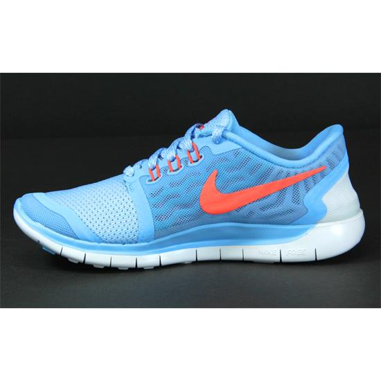 2b5b0d5bccb0e Nike Free 5.0 GS Junior Running Shoes (Blue)