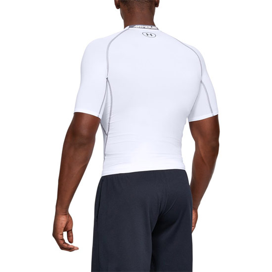 Under Armour HeatGear Compression Mens Shirt (White-Graphite)