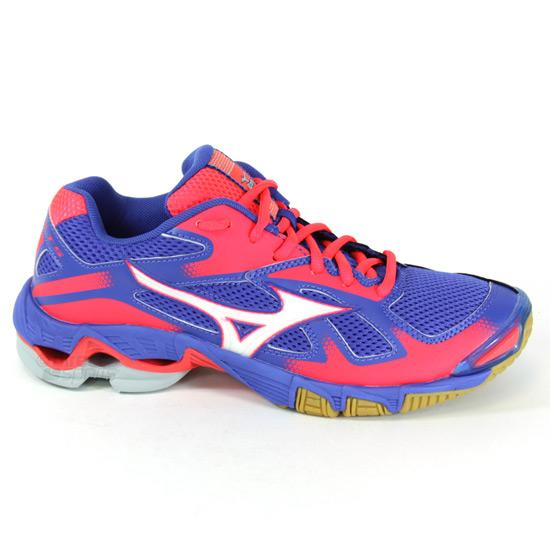 brand new 1aed2 307b8 Mizuno Wave Bolt 5 Womens Court Shoes (Dazzling Blue-Diva Pink) |  directsportsEshop.co.uk
