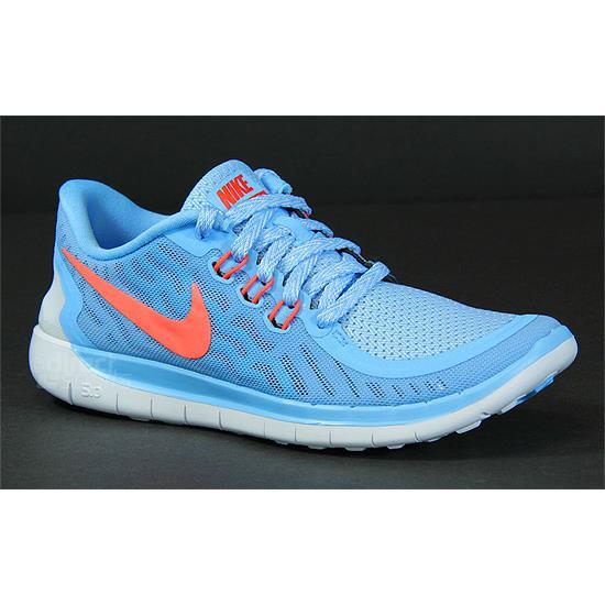 bb23180934024 Nike Free 5.0 GS Junior Running Shoes (Blue)