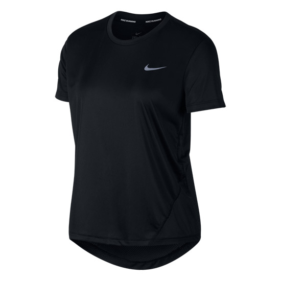 Nike Miler Womens T Shirt (Black) | Direct Badminton