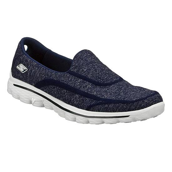 Walk 2 Super Sock Womens Shoes (Navy