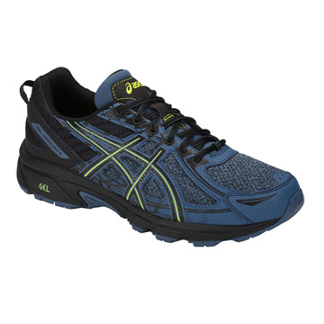 cd9d18c0b329 Asics Venture 6 Mens Trail Running Shoes (Grand Shark-Neon Lime)