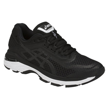 8553ae2f3bcf Asics GT-2000 6 Womens Running Shoes (Black-White-Carbon)