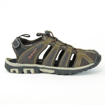 900065314265 Hi-Tec Cove Breeze Mens Sandals (Chocolate Brown- Burnt Orange)