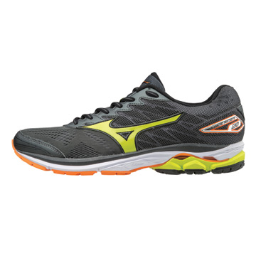 7520f7d2ab Mizuno Wave Rider 20 Mens Running Shoes (Dark Shadow-Lime Punch)