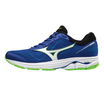 925b99b950 Mizuno Wave Rider 22 Mens Running Shoes (Surf The Web-White-Green Gecko