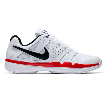 save off bd2ce 1810c Nike Air Vapor Advantage Mens Tennis Shoes (White-Black-Red)