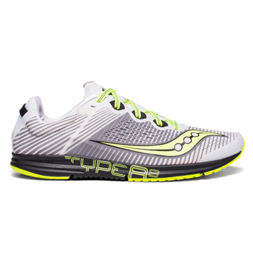 36a4f69f06 Saucony Type A8 Mens Running Shoes (White-Black-Citron)