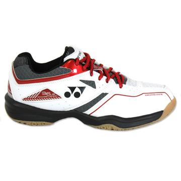 b3d3cc64a Yonex Power Cushion 36J Junior Badminton Shoes (White-Red)