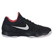 best service b0aeb 67623 Nike Air Zoom Cage 3 Mens Tennis Shoes (Black-White-Bright Crimson)