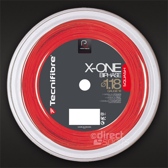 Tecnifibre X-One Biphase Squash String (1.18) 200 Metre Reel