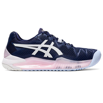 Asics Gel Resolution 8 Womens Tennis Shoes (Peacoat-White)