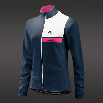 Morvelo Bloc Blue ThermoActive Womens Long Sleeve Jersey